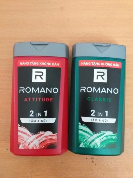 ( HÀNG TẶNG ) Combo 2 Dầu Tắm Gội 2 Trong 1 Romano Classic (150gx2) màu ngẫu nhiên cao cấp