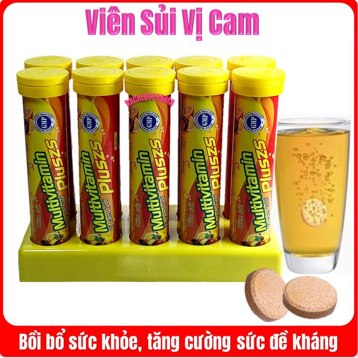 [Combo 3 Tuýp] Viên Sủi Orange Pluszs - Bổ Sung Vitamin C -Tăng Cường Đề Kháng, Tăng Sức Bền Thành Mạch Máu - Mỗi Tuýp 20 viên