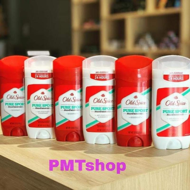 [USA] Combo 2 lăn sáp khử mùi Old Spice Pure Sport 85g Đỏ, Trắng - Mỹ tốt nhất