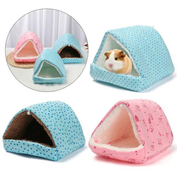 ZEEBR Thoải mái Dễ thương Lồng mini Sóc Mùa đông Thảm bông Guinea Pig Nest Giường ngủ Phụ kiện thú cưng Hamster House