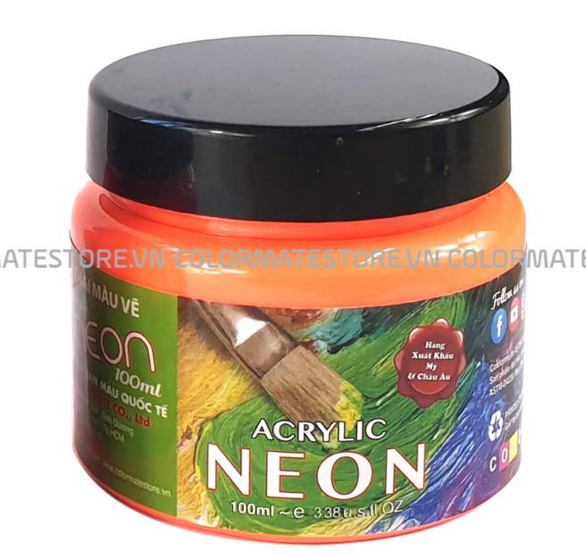 Chai Màu Vẽ Acrylic Neon Colormate 100ml Giá Tốt Không Thể Bỏ Qua