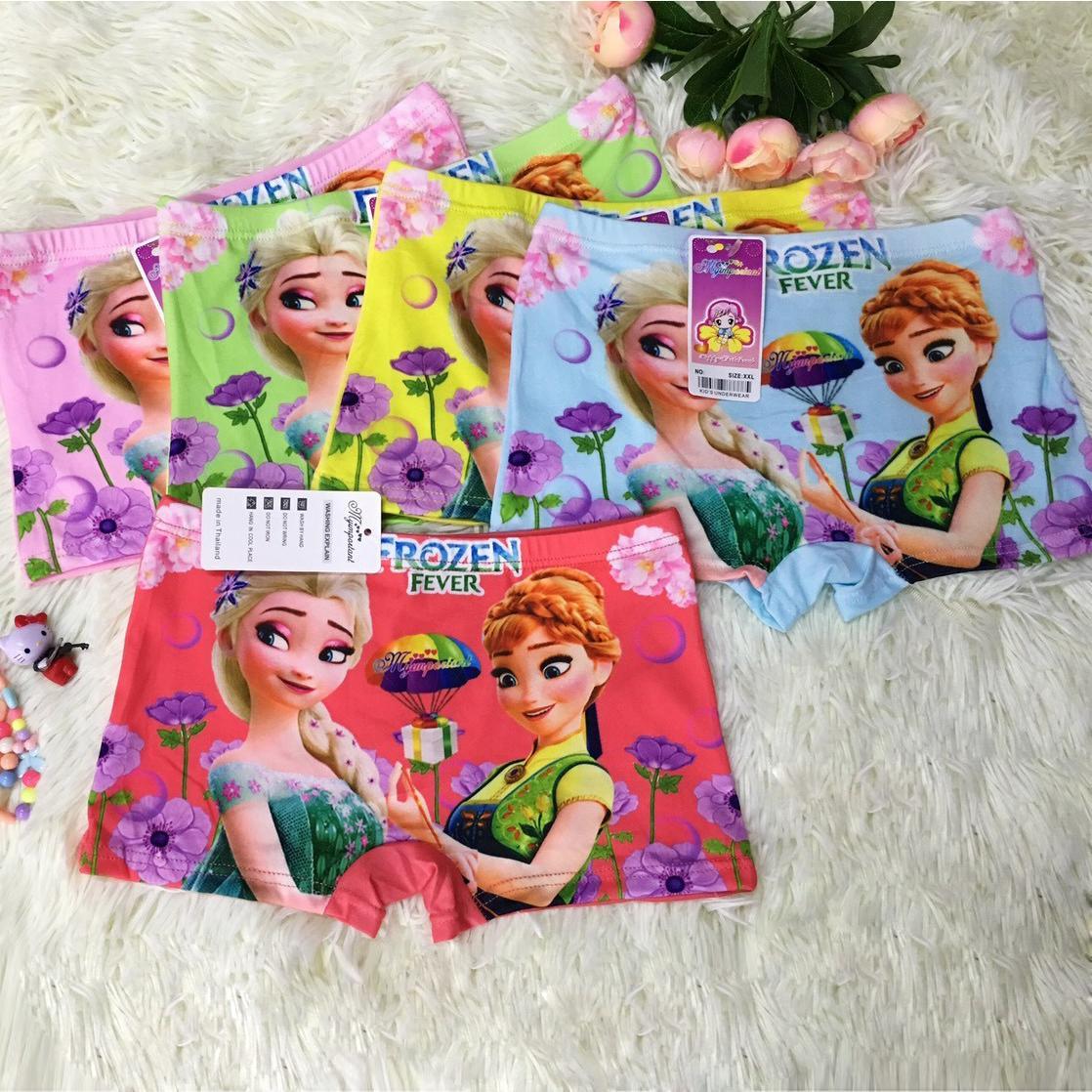 Combo 10 quần lót đùi bé gái in 3D hình công chúa Elsa - B19_Elsa