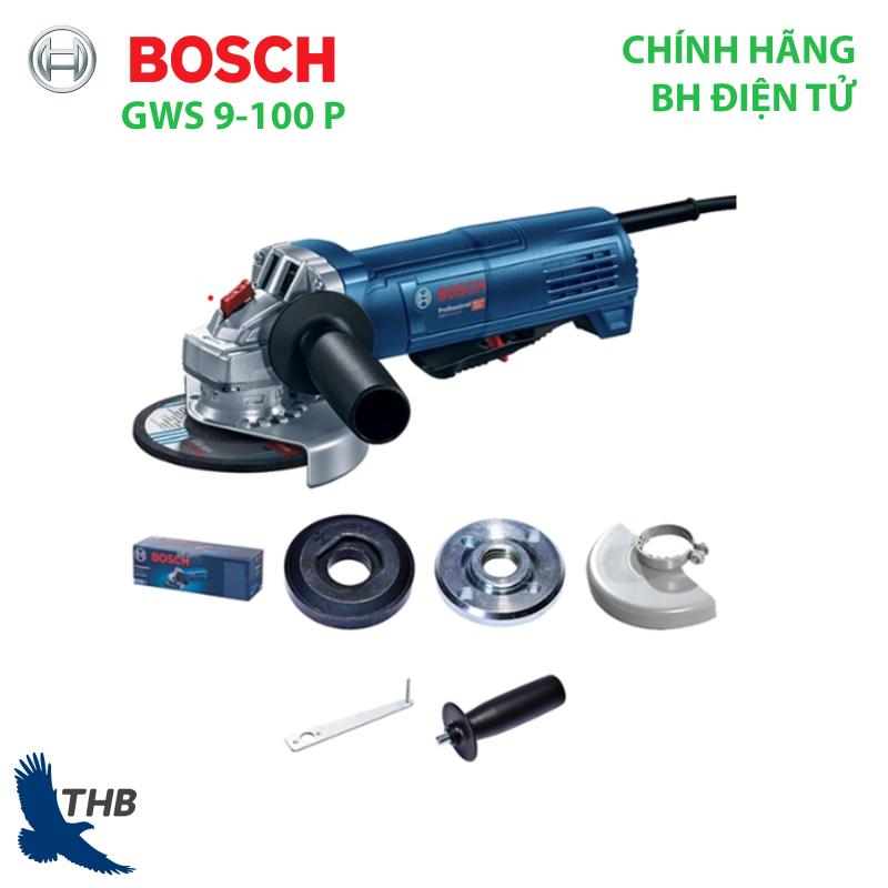 Máy mài góc Bosch GWS 9-100P Heavy Duty 900W Công tắc bảo vệ cùng Hệ thống làm mát trực tiếp Khả năng hoạt động vượt trội