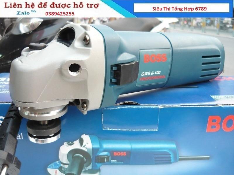 Máy mài cầm tay BOSS GWS6-100 đầu gang lõi dây đồng công suất mạnh mẽ , Bảo hành 12 tháng