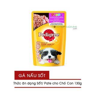 Gói Pate Sốt cho Chó Con Pedigree Puppy 130g - Vị Gà - [Nông Trại Thú Cưng] thumbnail