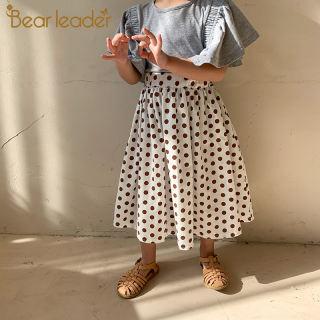Gấu Leader Váy Công Chúa Bé Gái, Quần Áo Trẻ Em Chấm Bi Thời Trang Mùa Hè Mới 2021 Trang Phục Dự Tiệc Dài Cạp Cao Cho Trẻ Em, 1-6Y