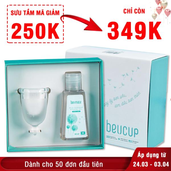 Cốc nguyệt san BeUcup Silicol y tế Waker Đức siêu mềm, đạt chuẩn FDA Hoa Kỳ An toàn Không kích ứng XP-CNS021 giá rẻ