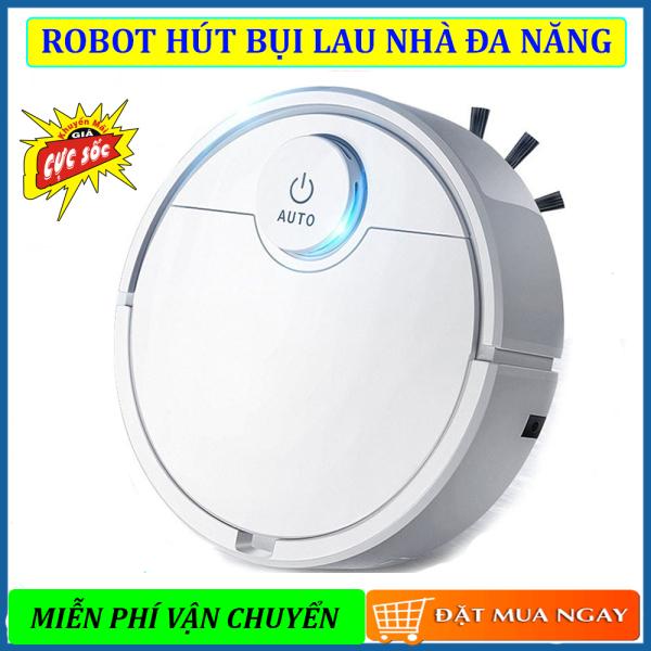 Robot Hút Bụi lau Nhà Tự Động, Máy Hút Bụi Tự Động, Robot Dọn Nhà. Tự Động Phát Hiện khi gặp các vật cản , Dễ Dàng Làm Sạch Các Vị Trí Khó Như Gầm Giường, Tủ, Vận Hành Êm Ái ko có tiếng ồn, GIẢM GIÁ SỐC NGÀY HÔM NAY!!!
