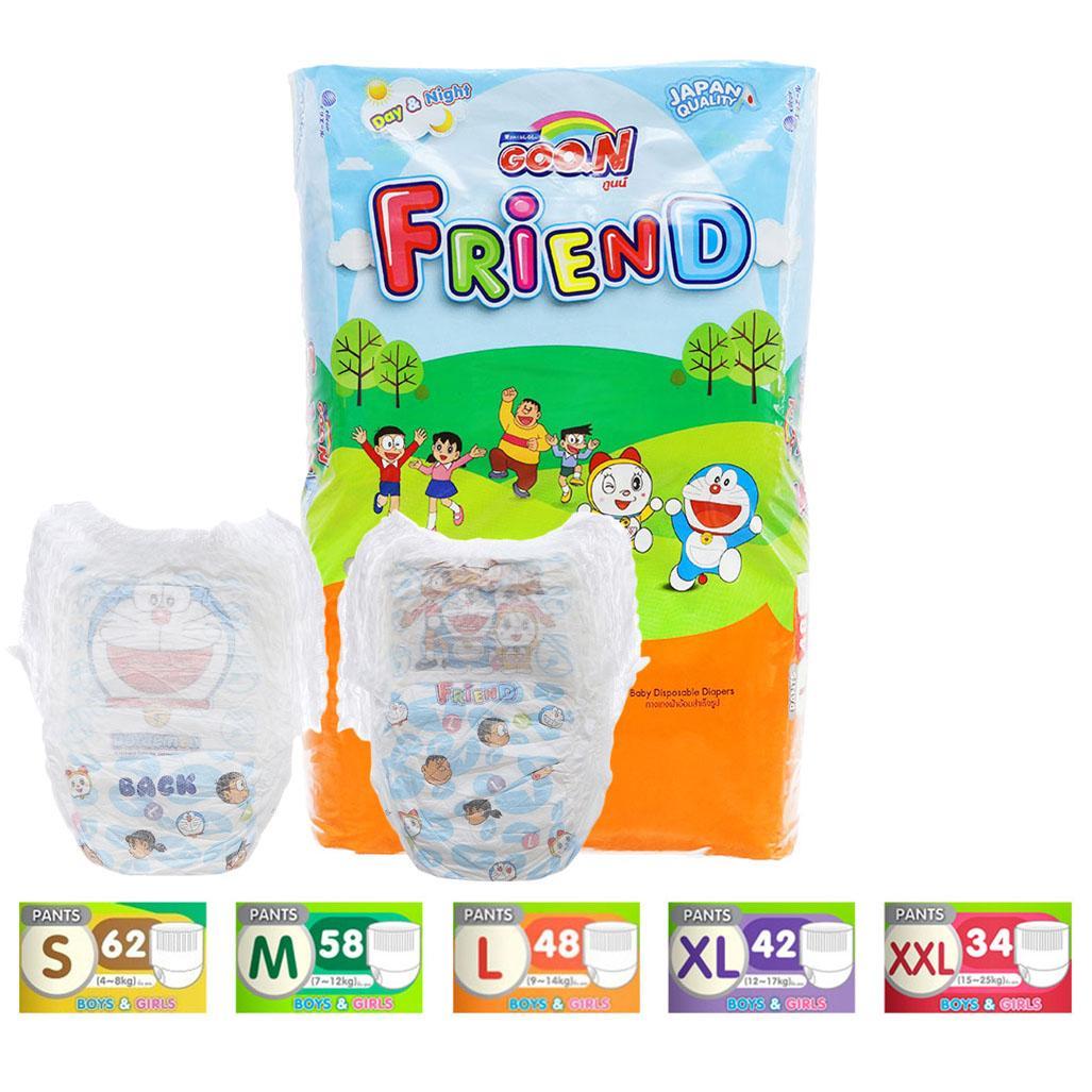 Bỉm - Tã Quần Goo.N Friend Size S62/M58/L48/XL42/XXL34 Đang Giảm Giá
