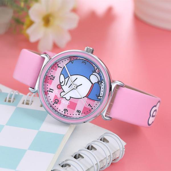 Nơi bán Đồng hồ kim trẻ em hình doraemon nhiều màu giá tốt decoshop68 W08