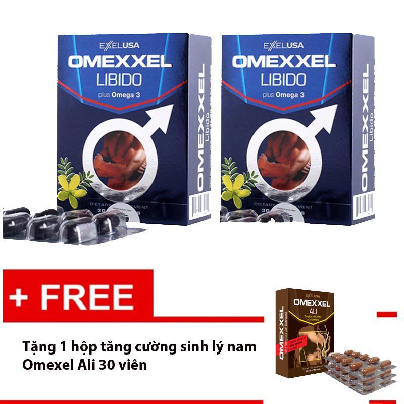 Bộ 2 Hộp Tăng Cường Sinh Lý Nam Giới Omexxel 60 viên -Tặng 1 hộp tăng sinh lý nam Omexxel ALi 30 viên nhập khẩu