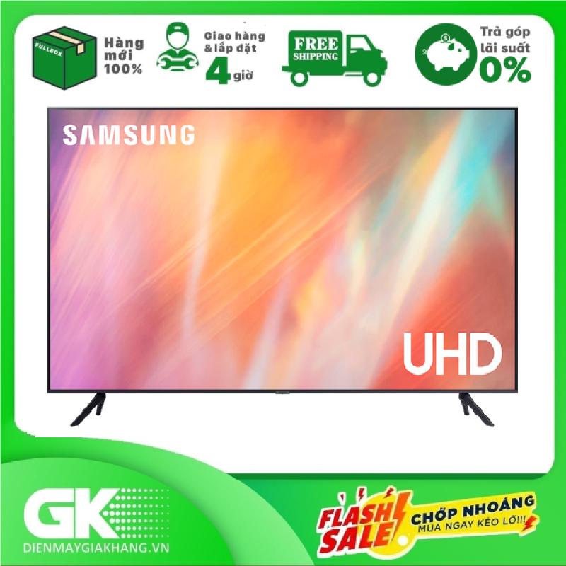 [GIAO HÀNG 2 - 15 NGÀY, TRỄ NHẤT 15.08] [Trả góp 0%]Smart Tivi Samsung 4K 75 inch UA75AU7000 Mới 2021 chính hãng