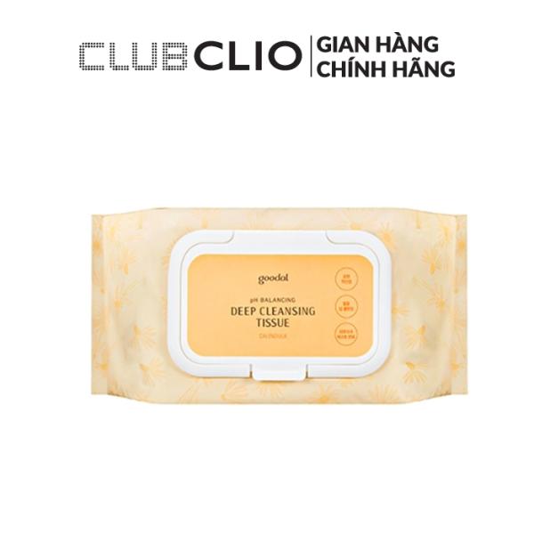 Khăn Giấy Tẩy Trang GOODAL CALENDULA PH BALANCING DEEP CLEANSING TISSUE (20pc)