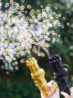 [Chất - Siêu hot] Máy Bắn bong bóng 8 nòng siêu mạnh Hot Trends Tiktok ngộ nghĩnh, đáng yêu - tặng kèm nước bong bóng[Sẵn Hàng] thumbnail