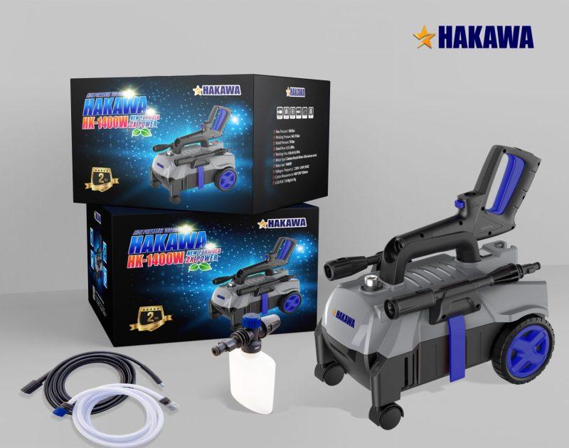 [ HAKAWA ] Máy xịt rửa Nhật Bản -  HAKAWA - HK-1400W - Bảo hành 2 năm -Phân phối chính hãng