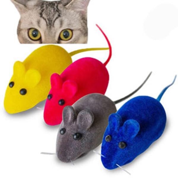 Chuột giả phát tiếng kêu đồ chơi mèo chó
