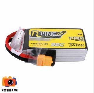 Tattu R-Line 1050mAh 95C 14.8V 4S1P Lipo Battery Pack with XT60 Plug thumbnail