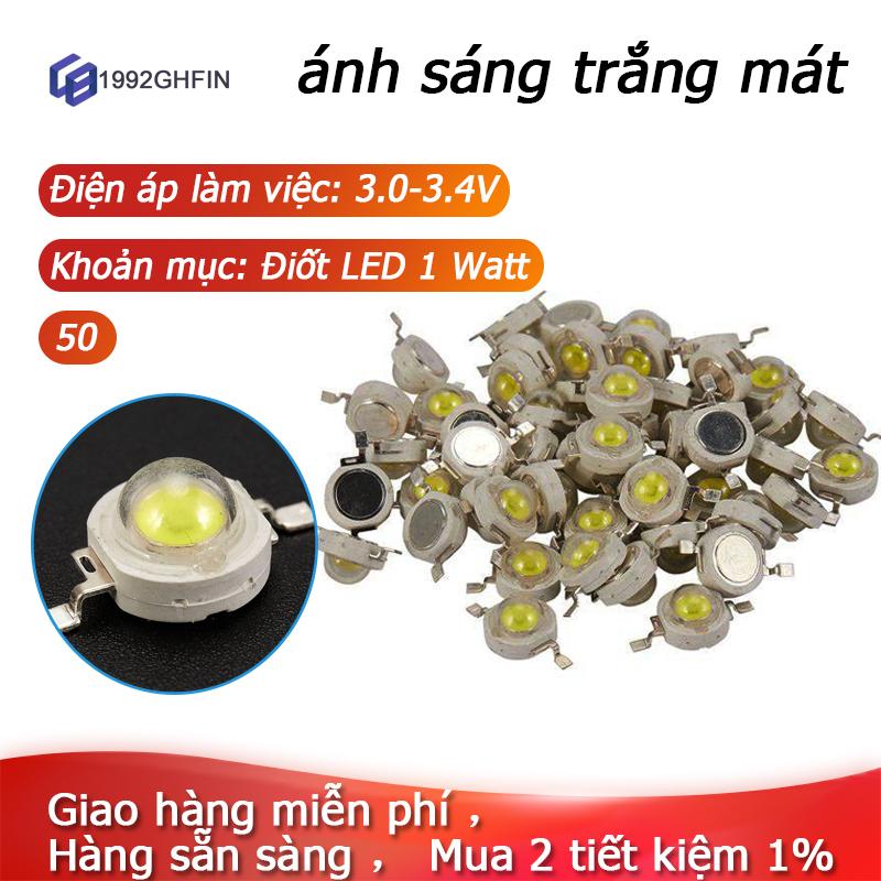 [Trong kho]50 Hạt Đèn Led Trắng Mát Công Suất Cao Diode 1W, Đèn 1 Watt Chip 3V-3.4V,50 led 1w