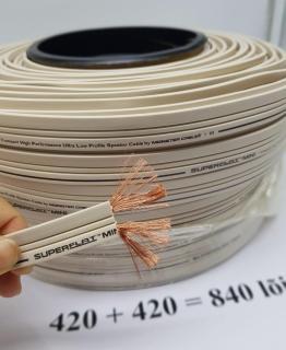 20 mét Dây loa Monster SUPERFLAT MINI 2 lõi 840 sợi 2 lõi mỗi lõi 3.52mm đồng nguyên chất thumbnail