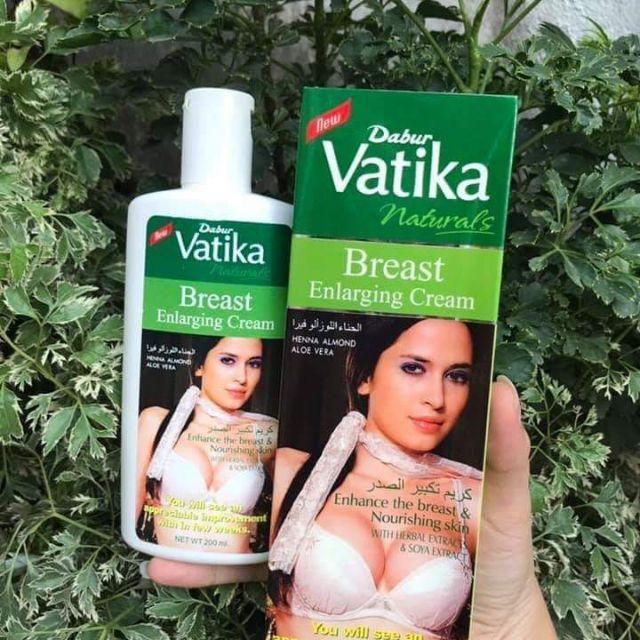 Kem massager nở ngực, săn chắc Vatika Dabur Naturals Pháp 200ml chính hãng
