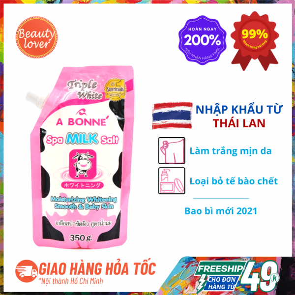 [Hoàn tiền 8%] Muối Tắm Sữa Bò Thái Lan A Bonne Dưỡng Trắng 350g – Beauty Lover Tẩy Tế Bào Chết Body, Dưỡng Trắng Da giá rẻ
