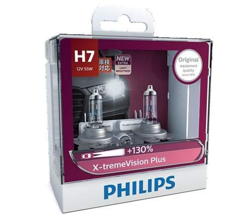 Bóng Đèn Pha Ôtô Philips X-TremeVision Halogen Tăng Sáng Chân H1