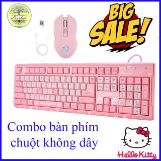 Bàn phím giả cơ Hello Kitty,Bàn phím Chuột gaming không dây,Bàn Phím Hello Kitty và Chuột không dây HMW-05, Bàn phím máy tính và chuột, Bộ bàn phím chuột gaming, Bàn phím cho nữ đẹp,Chuột bàn phím,BẢO HÀNH 6 THÁNG thumbnail