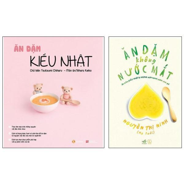 Mua Sách Thật - Combo 2 quyển Ăn dặm kiểu Nhật và Ăn dặm không nước mắt ( Bản in mới nhất )