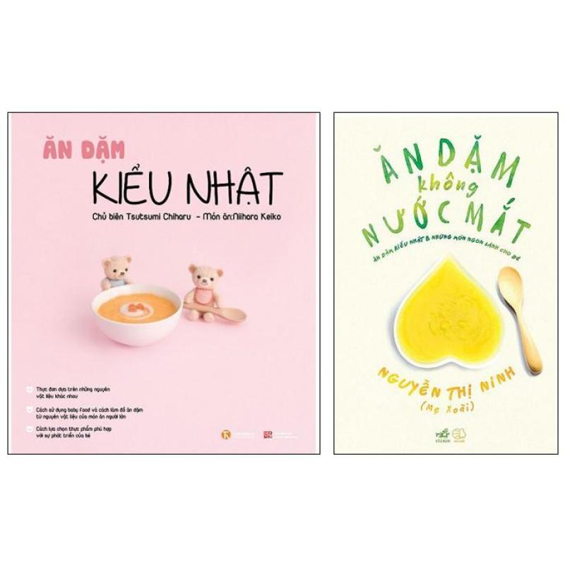 Sách Thật - Combo 2 quyển Ăn dặm kiểu Nhật và Ăn dặm không nước mắt ( Bản in mới nhất )
