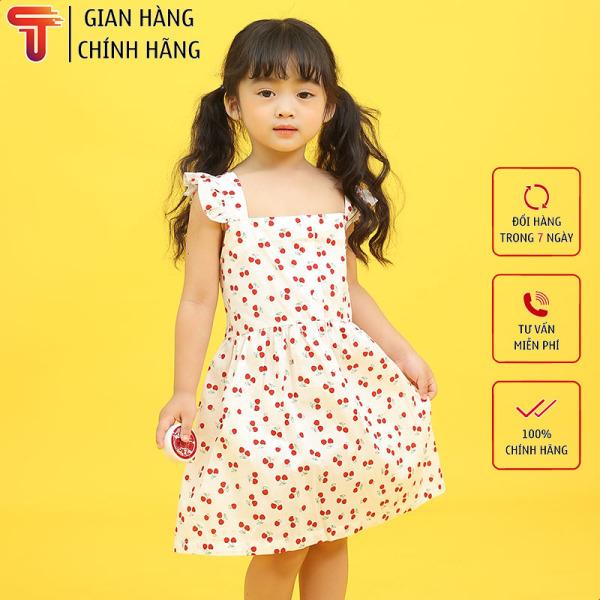 TANOSA KIDS Váy xòe in hình quả cherry thời trang cho bé gái
