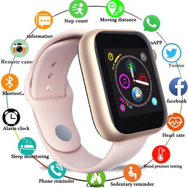 Đồng hồ thông minh Z6 lắp sim nghe gọi - theo dõi sức khỏe-Máy Ảnh Màn Hình Cảm