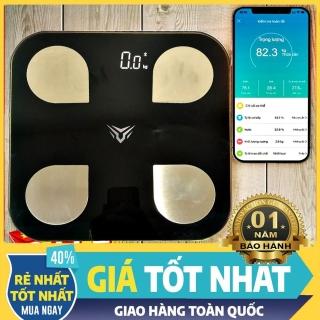 Cân Điện Tử Đo Sức Khỏe Thông Minh - Tích hợp App Tiếng Việt Đo 18 Chỉ Số Sức Khỏe (tỷ lệ mỡ thừa protein..) thumbnail