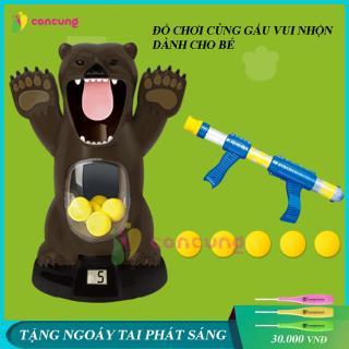 Đồ chơi trẻ em, đồ chơi ném gấu bằng dụng cụ bông mềm phát ra âm thanh vui nhộn dành cho bé thumbnail
