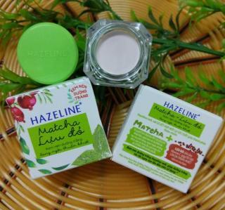 Kem dưỡng trắng da Hazeline lựu đỏ và matcha hộp 3g thumbnail