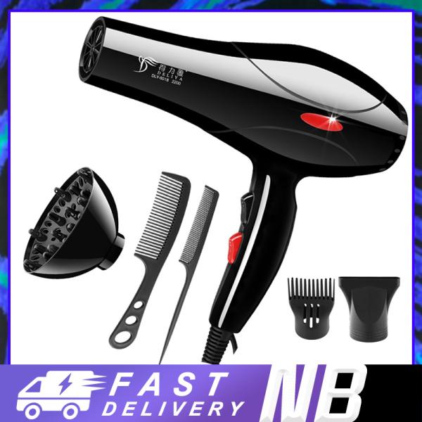【New Be】Máy sấy tóc Deliya Máy sấy tóc 2 chiều, chế độ điện 2000W Máy sấy tóc đơn giản chuyên nghiệp Máy sấy tóc công suất cao Máy sấy tóc du lịch tại nhà Máy sấy tóc không khí nóng và lạnh, (miễn phí 5 phụ kiện) nhập khẩu