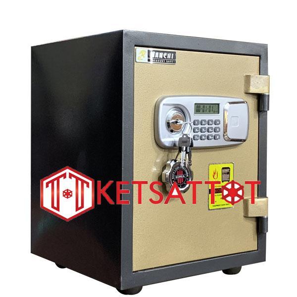 két sắt chống cháy Hanchi H55 khóa điện tử-C50*R38*S36cm-50kg