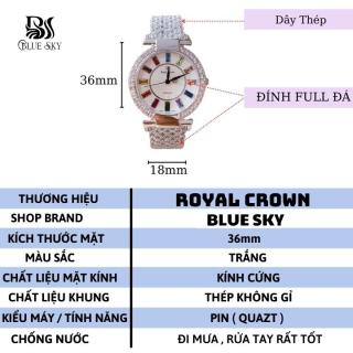 Đồng Hồ Nữ Thời Trang Royal Mặt Đá Ngũ Sắc Trắng Kiểu Dáng Hàn Quốc - Bảo Hành 12 Tháng 3