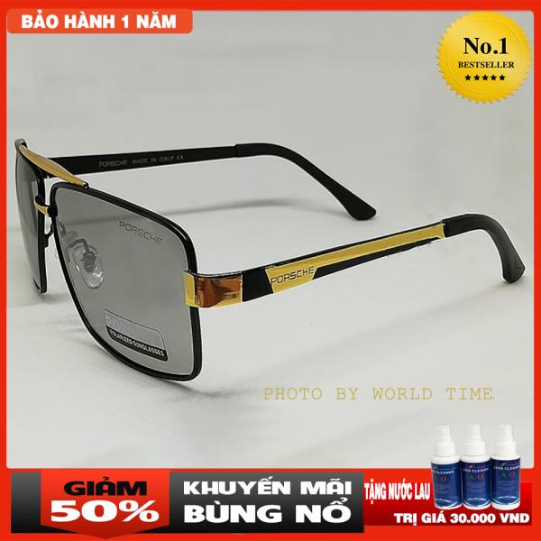 Giá bán Kính đổi màu Porsche P002 tròng kính đổi màu khi ra nắng-Mắt kính chống tia UV-Tặng kèm hộp+ khăn lau kính-Bảo Hành 12T