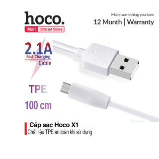 Cáp sạc Micro USB Hoco X1 dài 1m chất liệu TPE an toàn chống gẫy gập thumbnail