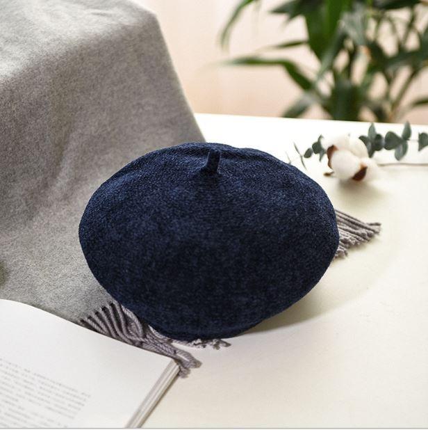 Mũ Nồi Mũ Beret Nhung  Cao Cấp 7 Màu Túi Zip Hàng Quảng Châu