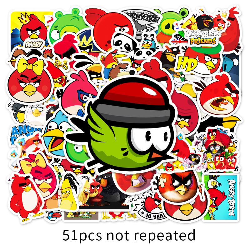 51Từ Phim Hoạt Hình Angry Birds Chơi Game Graffiti Dán Máy Tính Xách Tay Hành Lý Xe Tay Ga Dán Trang Trí Dán Xe Máy thumbnail