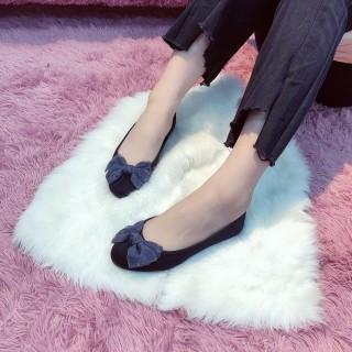 Giày búp bê đính nơ xinh xắn chất liệu vải mềm kiểu dáng trẻ trung phong cách hàn quốc thumbnail