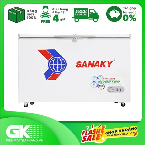 [Nhập ELAPR21 giảm 10% tối đa 200k đơn từ 99k]TRẢ GÓP 0% - Tủ Đông Sanaky Inverter 208L VH-2599A3- Bảo hành 2 năm