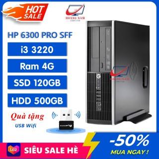 Cây Máy Tính Để Bàn HP 6300 Pro SFF (i3 3220 Ram 4Gb SSD 120GB HDD 500GB) - Cây Máy Tính Văn Phòng HP - Bảo Hành 12 tháng, Tặng USB Wifi thumbnail