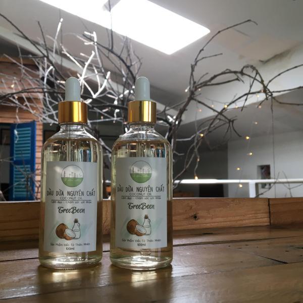 2 chai Dầu dừa nguyên chất (nhà làm) TreeBeen 200ml (100ml +100ml) Tuthiennhien