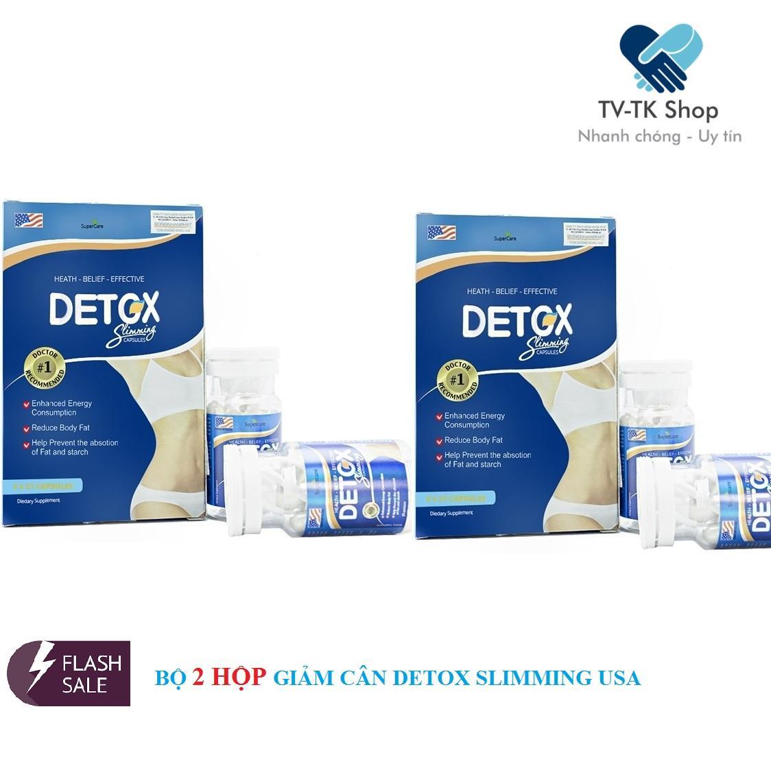Combo 2 Hộp Thảo Dược Giảm Cân Detox Slimming Capsules USA (Nhập khẩu Mỹ)