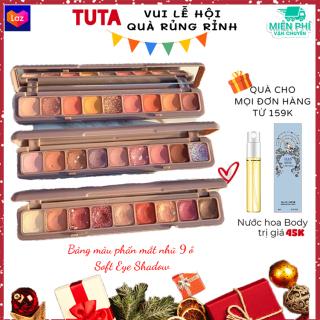 TUTA - Bảng màu phấn mắt nhũ 9 ô Soft Eye Shadow trang điểm mắt thời thượng, Bảng màu mắt chính hãng DIKALU PM-11t thumbnail