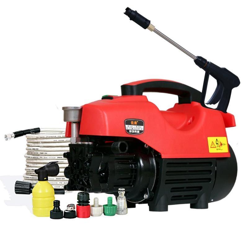 Máy rửa xe Mini công suất mạnh 2300W LÕI ĐỒNG 100 % ,có súg dài nửa mét.tặng phụ kiện theo máy đầy đủ và bình bọt