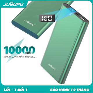 Sạc dự phòng 10000mAh giá rẻ có màn hình hiển thị võ nhôm kim loại power bank chính hàng JUYUPU PR-5C dành cho iPhone Samsung OPPO VIVO HUAWEI XIAOMI cục sạc dự phòng thumbnail