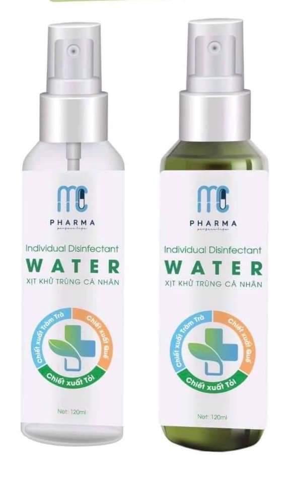 Nước rửa tay khô, xịt khử trùng cá nhân mc pharma - 120 ml nhập khẩu
